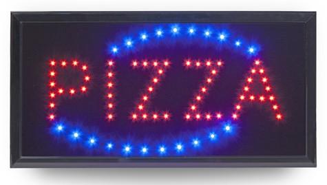 INSEGNA LUMINOSA PIZZA|Novalberghiera