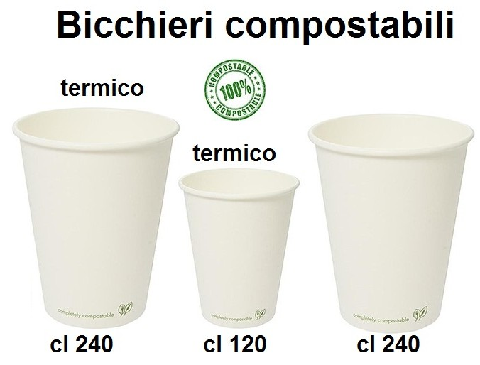 BICCHERI CARTONCINO COMPOSTABILE