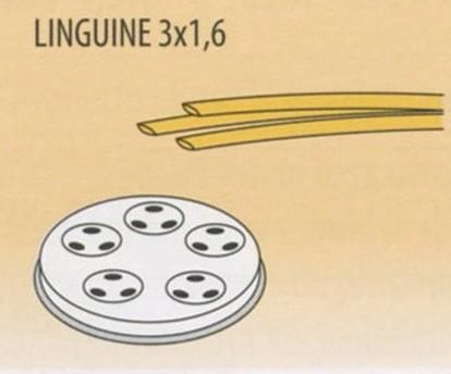 TRAFILA LINGUINE 3x1,6 x 2,5-4 Novalberghiera