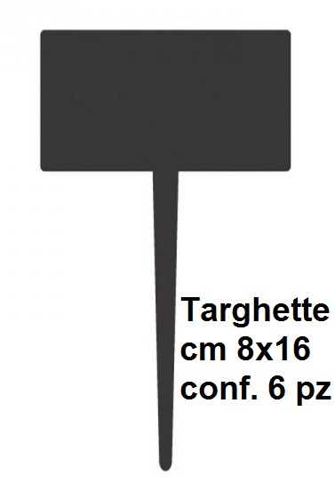 N. 6 TARGHETTE 8x16|Novalberghiera