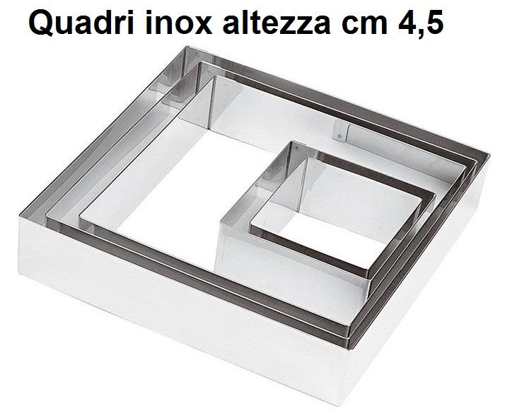 ANELLO INOX QUADRO