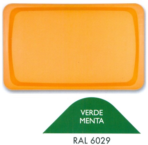 VASSOIO POLIPR.53x32 VERDE M. | Novalberghiera