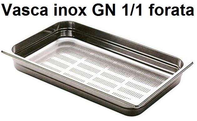 VASCA INOX FORATA GN 1/1 | Novalberghiera