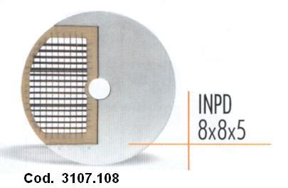 DISCO CUBETTI mm 8x8x5 -INPD   Novalberghiera