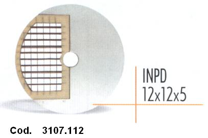 DISCO CUBETTI mm 12x12x5 -INPD   Novalberghiera