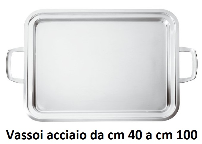 VASSOIO INOX  CON MANICI