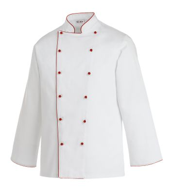GIACCA CHEF M RED PIPING Novalberghiera