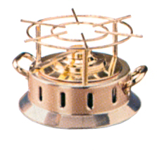 LAMPADA FLAMBEAU RAME-alcool|Novalberghiera