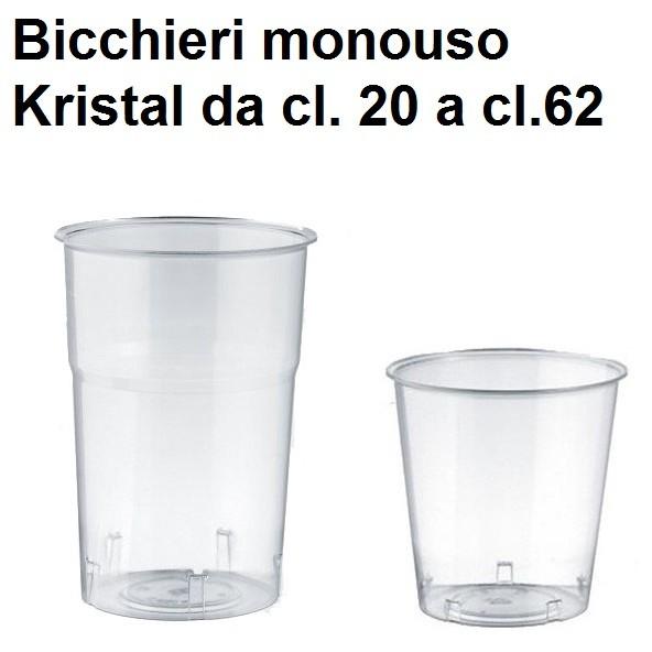 BICCHIERI MONOUSO KRISTAL