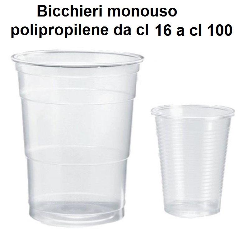 BICCHIERI MONOUSO POLIPROPILENE | Novalberghiera