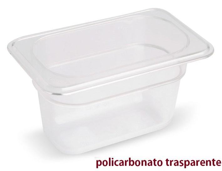 VASCA POLICARB. GN 1/9x6h|Novalberghiera