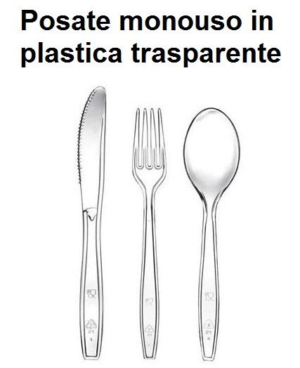 POSATE MONOUSO PLASTICA TRASP. | Novalberghiera