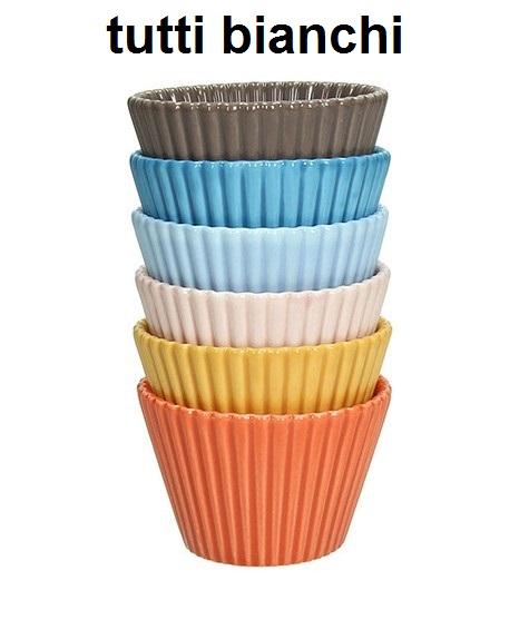 CUP CAKES 6 PEZZI cm 8 bi|Novalberghiera