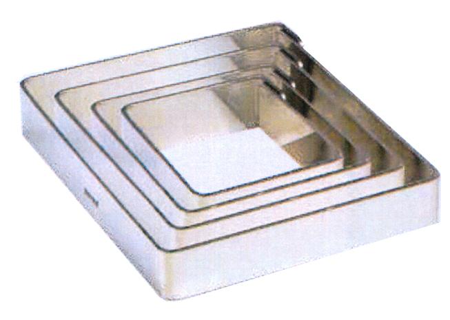 QUADRO INOX mm 180x180x20h|Novalberghiera