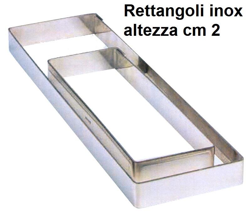 RETTANGOLO  INOX h cm 2|Novalberghiera