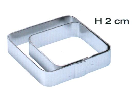 QUADRO ANG.T.INOX mm 70x70x20h|Novalberghiera