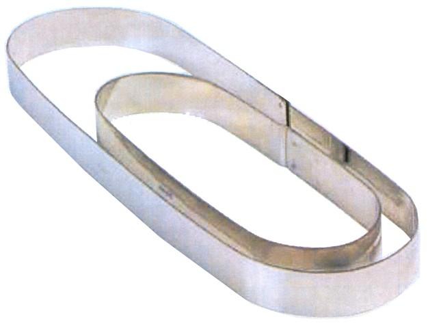 OVALE INOX mm 280x80x20h|Novalberghiera