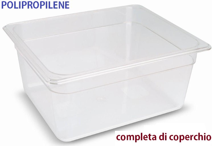 VASCA POLIPROP.GN 1/2 c/cop. | Novalberghiera