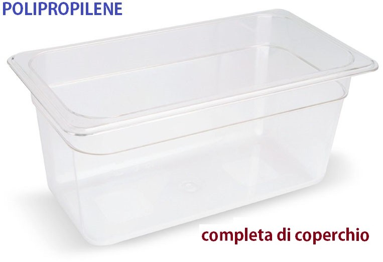 VASCA POLIPROP.c/cop. GN1/3x20h|Novalberghiera