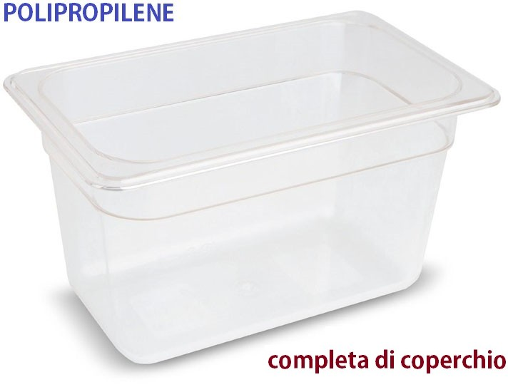 VASCA POLIPROP.c/cop. GN 1/4x6h|Novalberghiera
