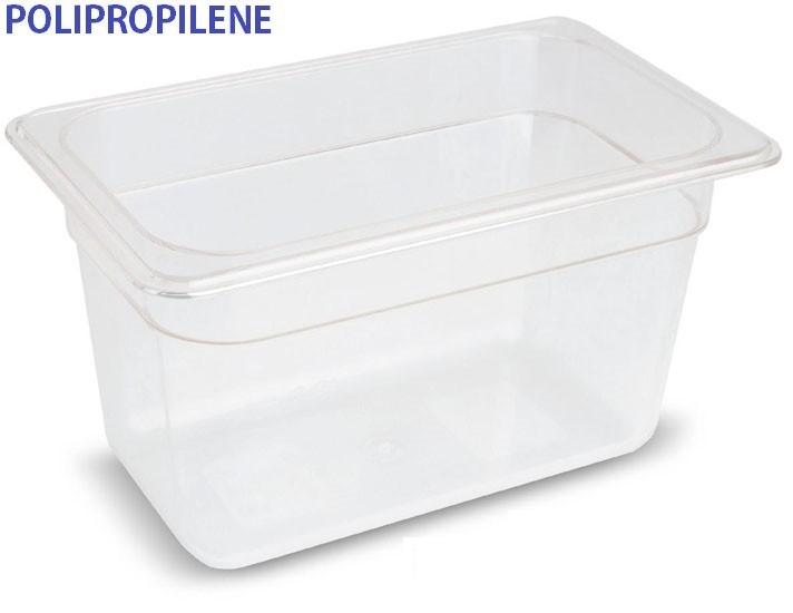 VASCA POLIPROP.c/cop. GN 1/4x10h|Novalberghiera