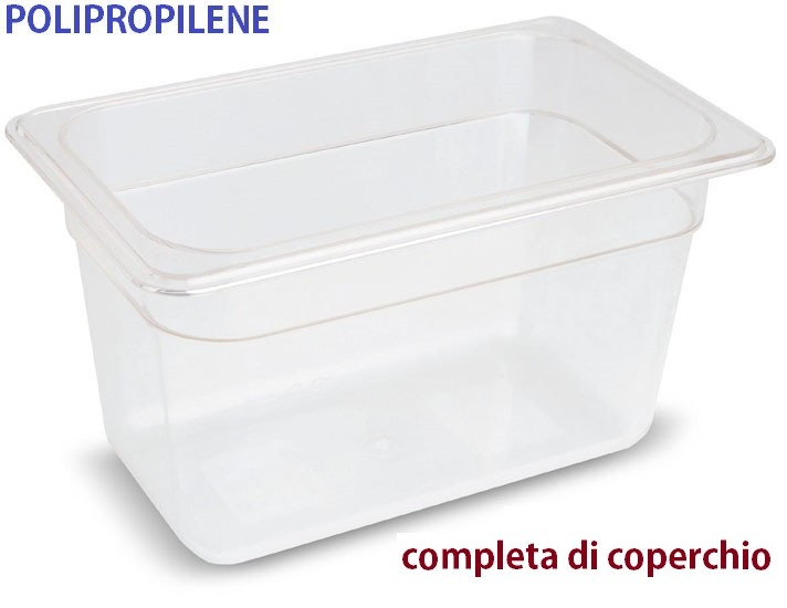 VASCA POLIPROP.c/cop. GN 1/4x15h|Novalberghiera