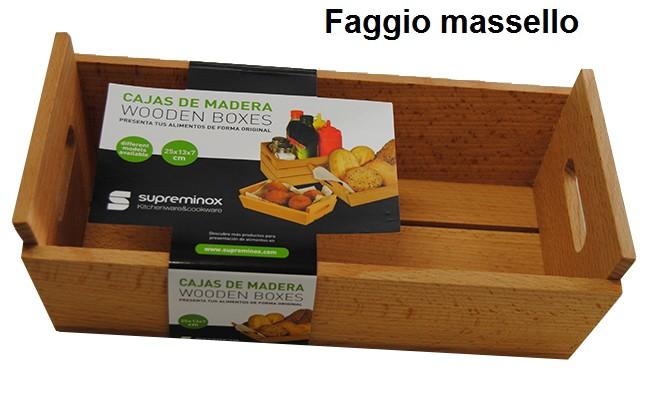 CASSETTA LEGNO cm 25x13x7h|Novalberghiera