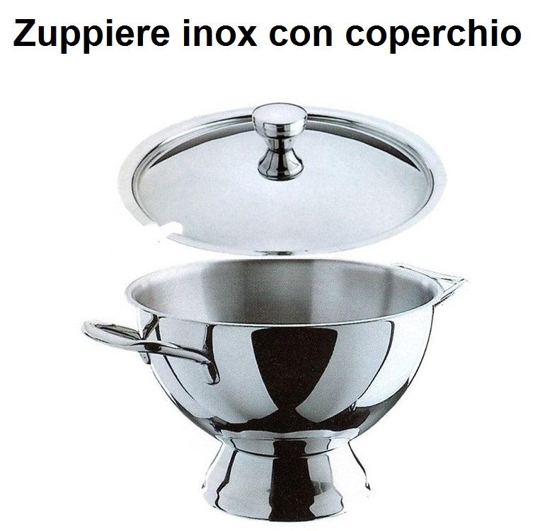 ZUPPIERE INOX C/COPERCHIO Novalberghiera