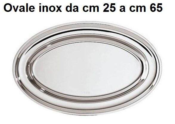 PIATTI OVALI INOX